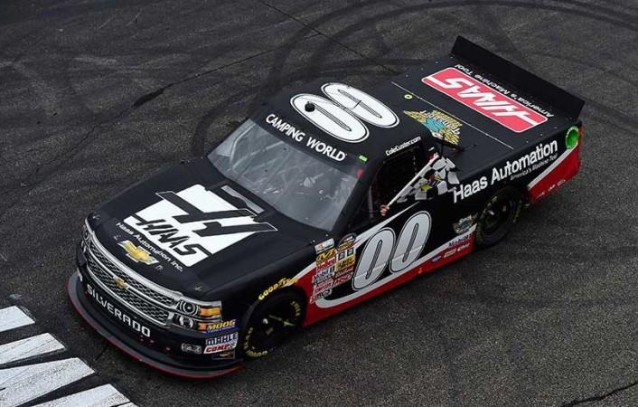 Vítěz loňského závodu trucků Cole Custer (Fotografie: NASCARmedia/Getty Images)