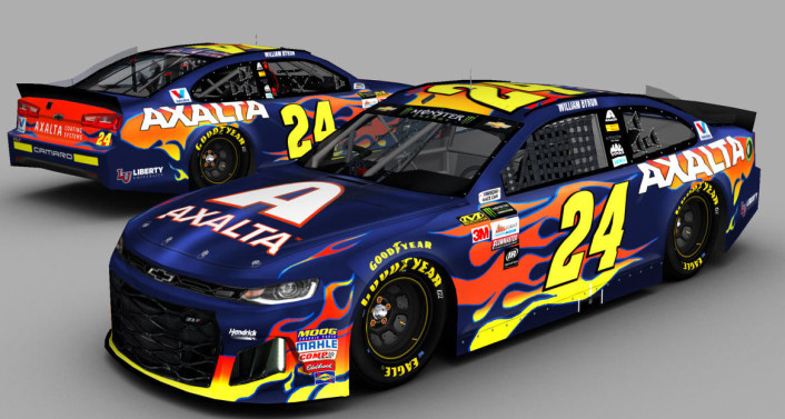 #24 William Byron 2018 Axalta